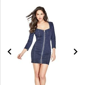 Guess denim bodycon dress. New with tags.